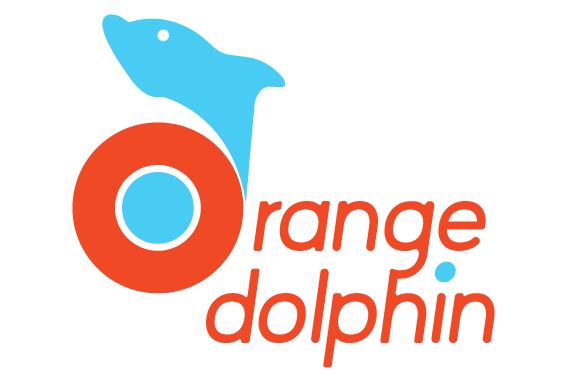 Orange Dolphin Logo